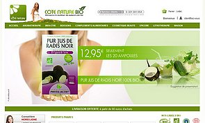 Site e-commerce cotenature-bio.com