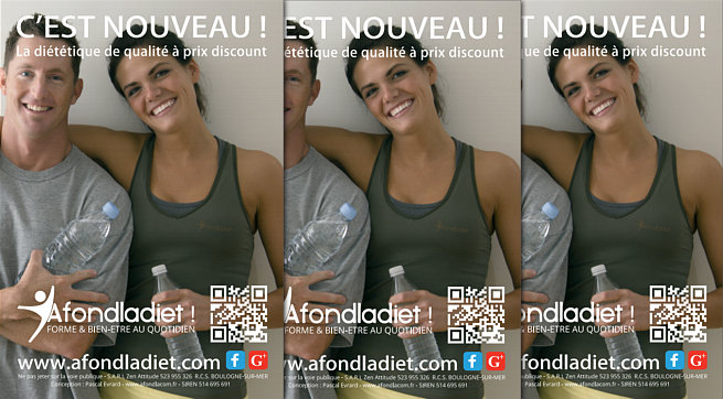 Conception du flyer promotionnel afondladiet.com